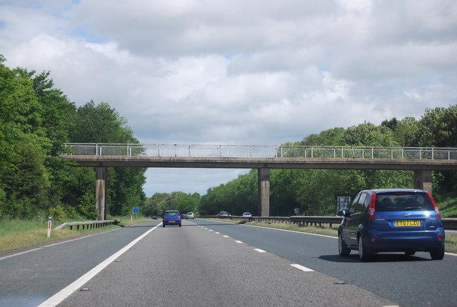 Footbridge ovr the A1(M) near High House