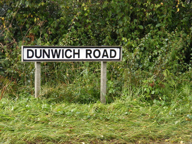 Dunwich Road sign