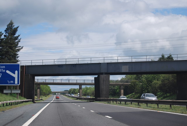Railway bridge over the A1(M)