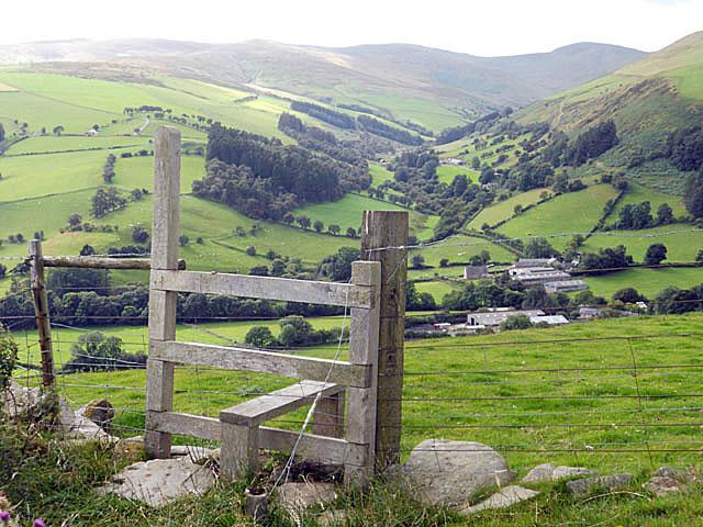 Stile on upland path