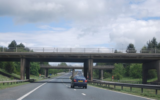 A1(M) approaching Junction 59