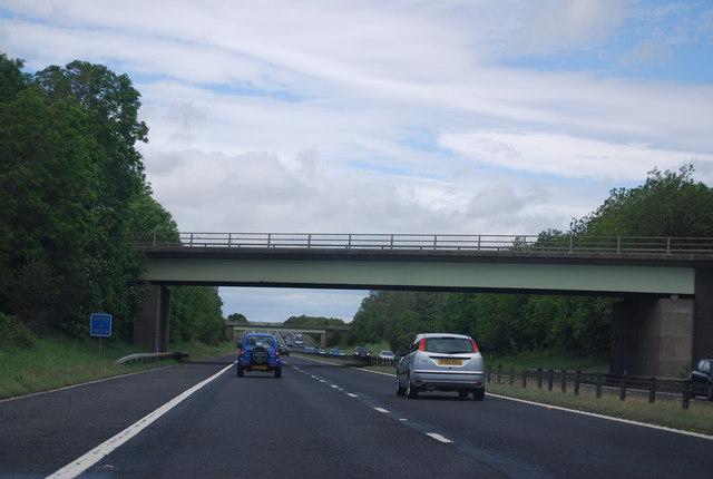 Ricknall Lane overbridge, A1(M)