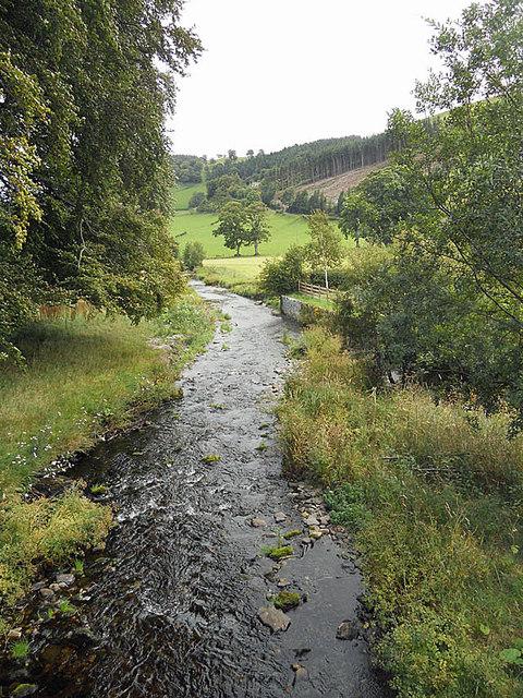 Downstream from the bridge at Llanarmon