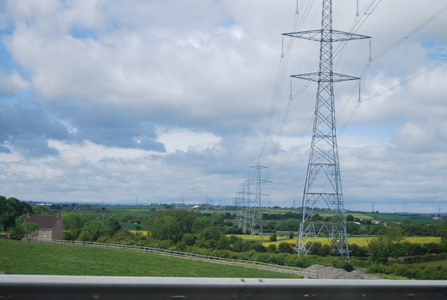 Pylons near Cornforth