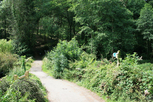 Bridleway at Ideford Mill Cottage