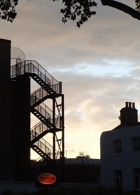 Evening skyline, Chiswick High Road