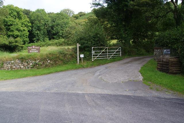 The entrance to Ffald-y-Brenin