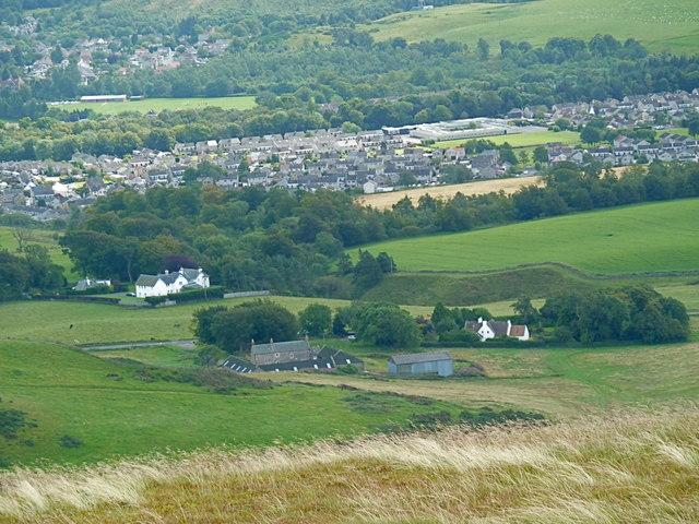 Looking down on Penicuik from Turnhouse Hill