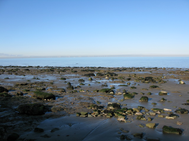 The shoreline at Reculver