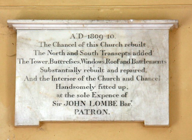 St Mary, Bylaugh - Memorial