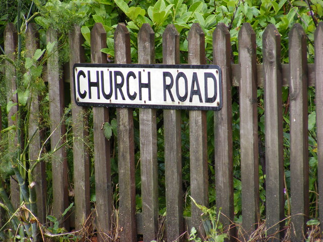 Church Road sign