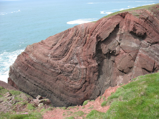 Rock strata at Cobbler's Hole