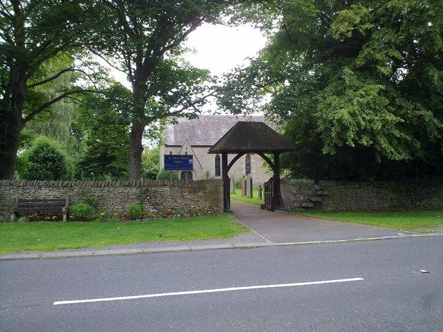 Churchyard gates at Snods Edge