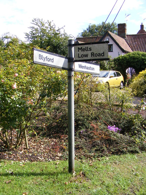 Roadsign on Blyford Road