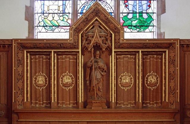 St Mary, Sparham - Reredos