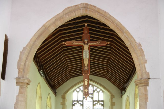 St Mary, Sparham - Hanging crucifix