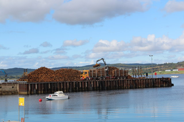 Timber for export, Ardrishaig