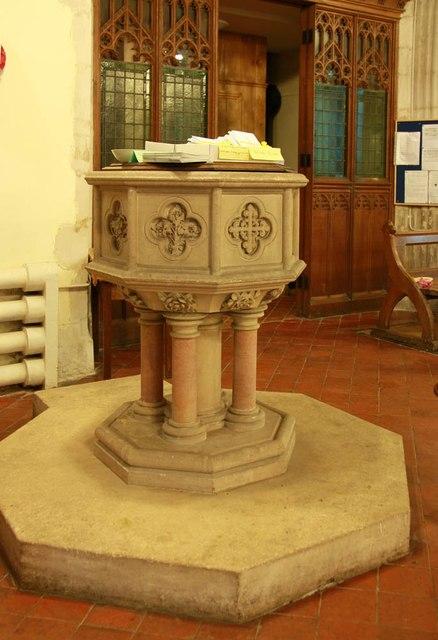 St Giles, Great Hallingbury - Font