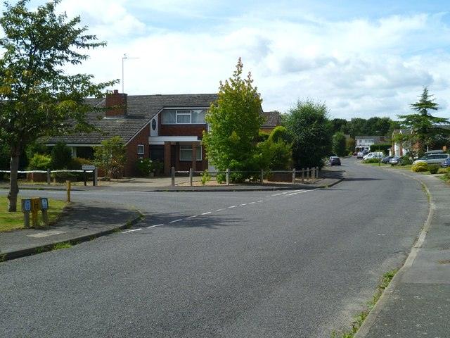 Junction of Brookside and Waverleigh Road in Cranleigh