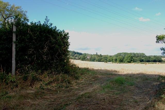 Footpath across Fields from Heron's Gate Road