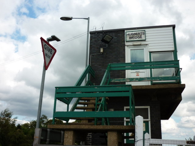 The signal box at Hubberts Bridge train station