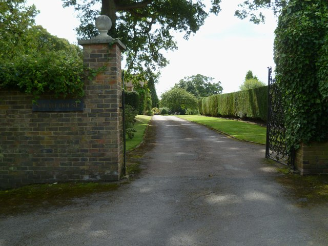 Entrance to South House from the bridleway