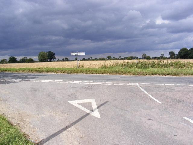 B1117 Laxfield Road junction at Barley Green