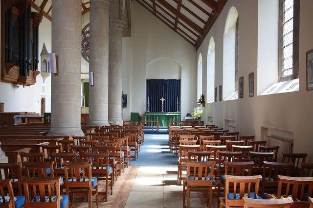 All Saints, Hockerill - South aisle