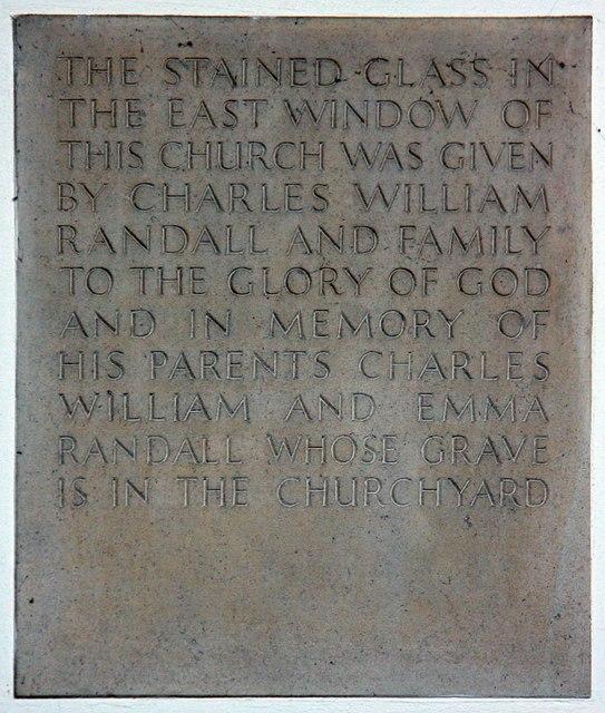 All Saints, Hockerill - Memorial