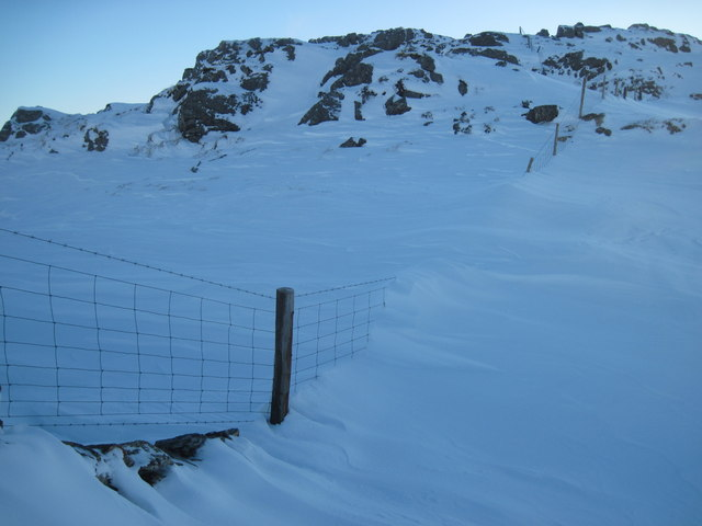 Christmas Day 2010: Snowdrift on Carnedd y Cribau