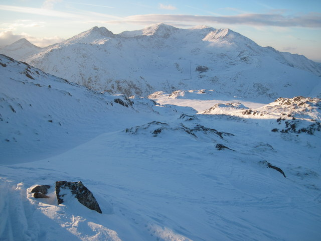Christmas Day 2010: Looking west to Snowdon