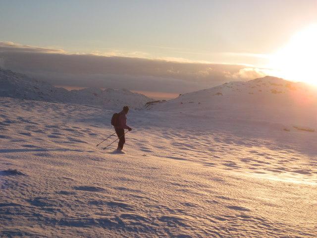 Christmas Day 2010: Perfect skiing near Braich Llwyd