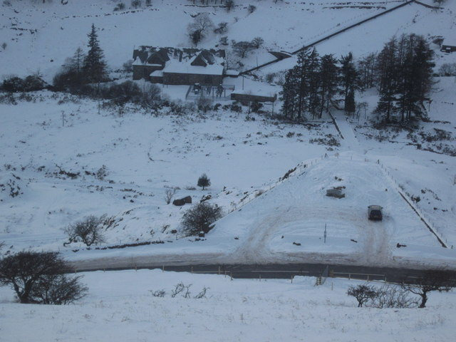 Christmas Day 2010: Looking towards Cwm Dyli power station