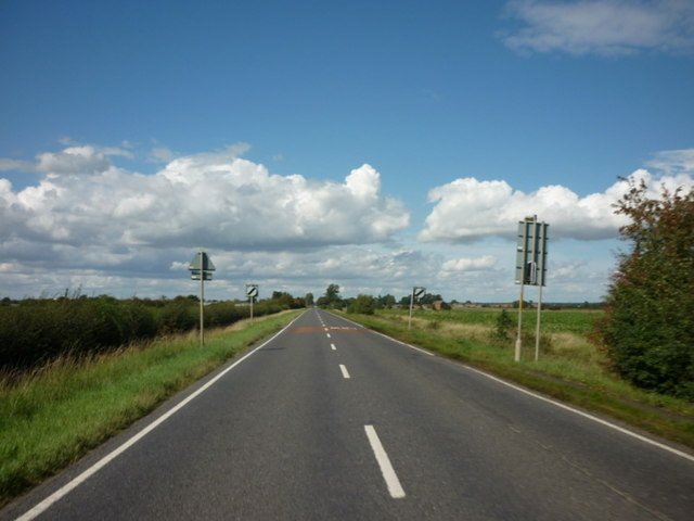 Looking north along Langrick Road
