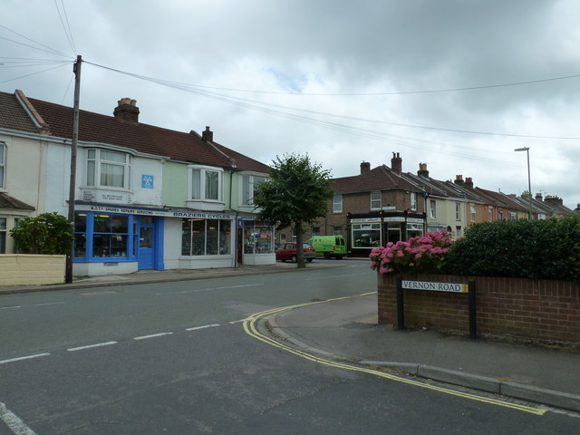 Looking from Vernon Road into Whitworth Road