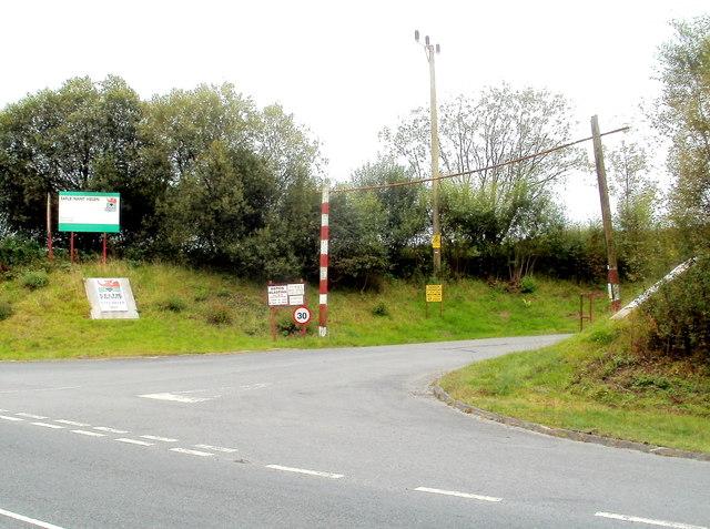 Entrance road to Celtic Energy's Nant Helen coal mine near Coelbren