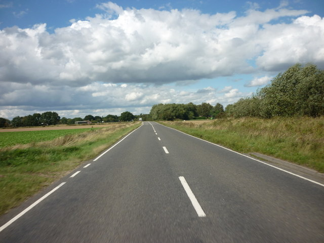 Heading north along Langrick Road