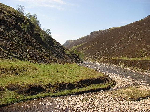 Glen Tilt and the Lochain confluence