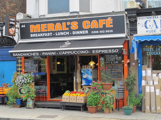 Meral's Café, Cricklewood Lane, NW2