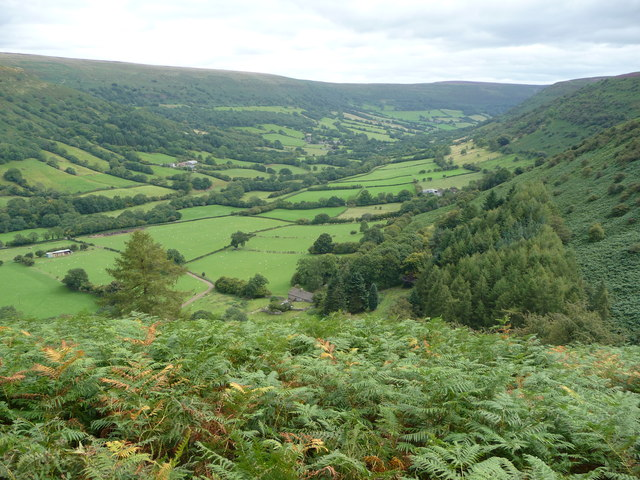 View down the Vale of Ewyas
