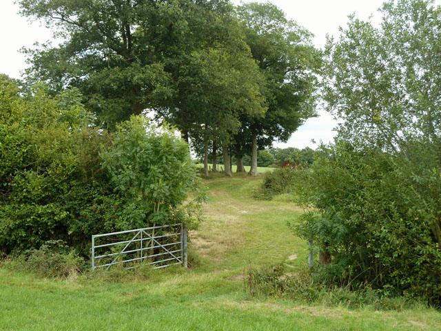 Footpath route near Gamehurst Farm