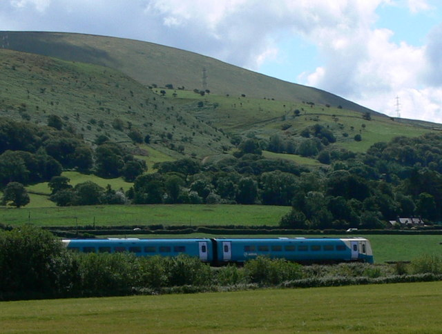 Train near the Morfa Aber Nature Reserve