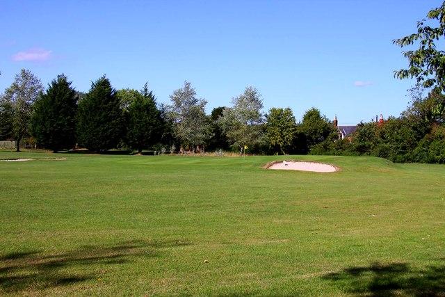 A bunker on Shrivenham Park Golf Course