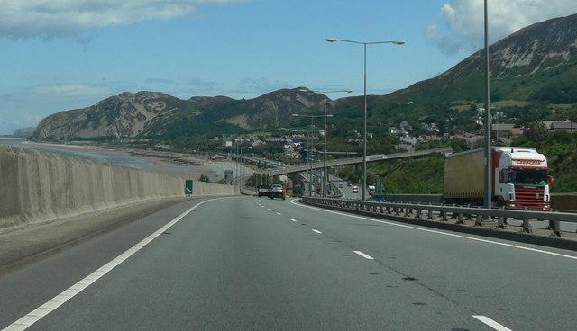 The A55 near Penmaenmawr