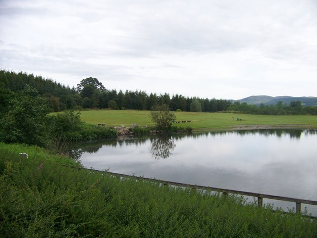 The loch at Annandale Water services from M74 south