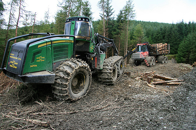 Logging machines at Whitecleuch Fell