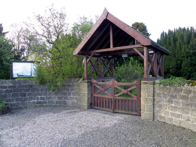 Lych gate, St Michaels and All Angel's Church