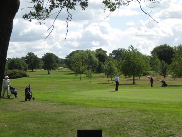 At the green, Stonebridge golf course