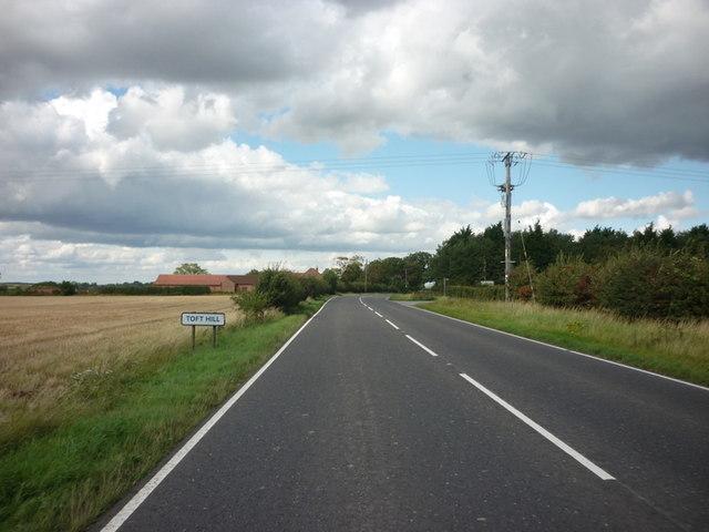 Entering Toft Hill
