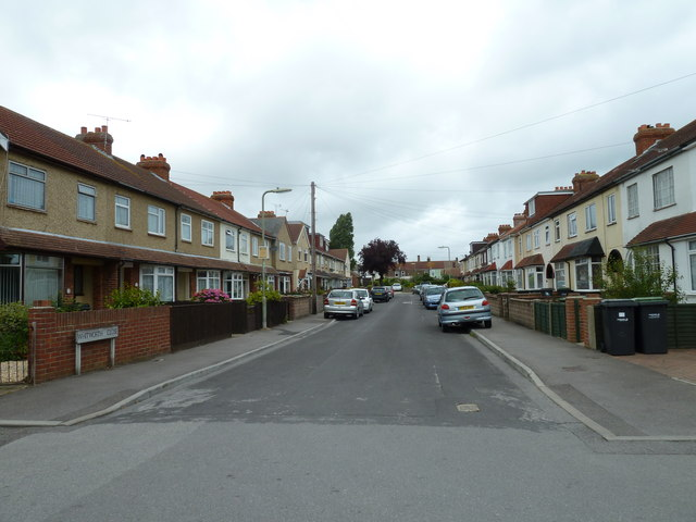 Looking from Whitworth Road into Whitworth Close
